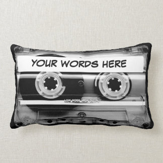 Cassette Tape Personalised Lumbar Pillow