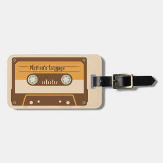 Cassette Tape Personalized Luggage Tag