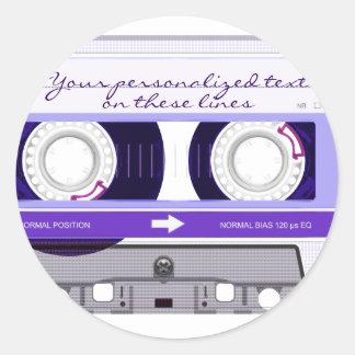 Cassette tape - purple - sticker