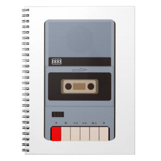 Cassette Tape Recorder Notebook