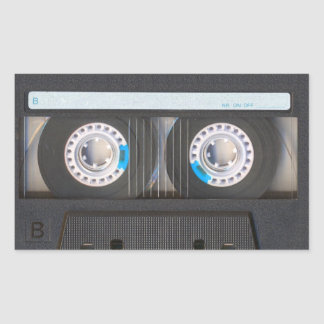 Cassette Tape Rectangular Sticker