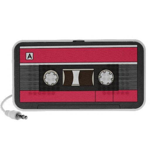 Cassette Tape Red Speakers