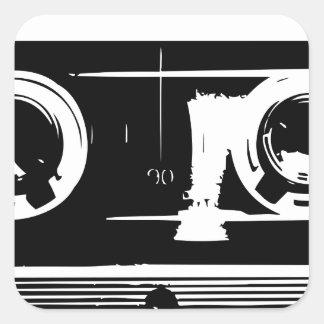 Cassette Tape Square Sticker