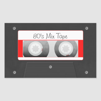 Cassette Tape Rectangle Stickers