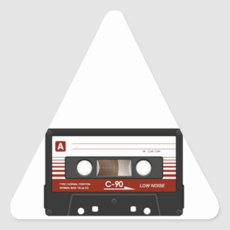 Cassette Tape Triangle Stickers
