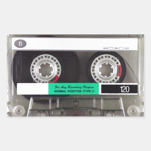 Cassette Tape Rectangular Stickers