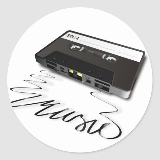 Cassette Tape Round Stickers