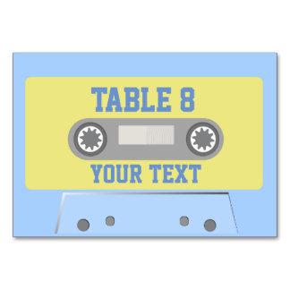 Cassette Tape Table Card