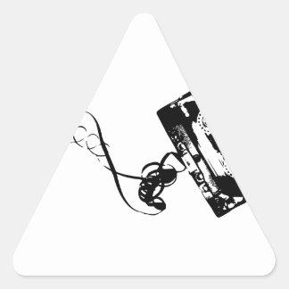 Cassette Tape Triangle Sticker