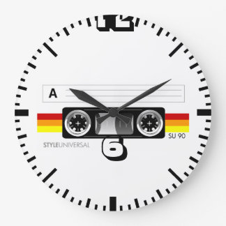 Cassette tape wall clock