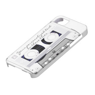 Cassette tape - white - iPhone 5 cover
