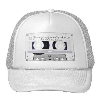 Cassette tape - white - trucker hats