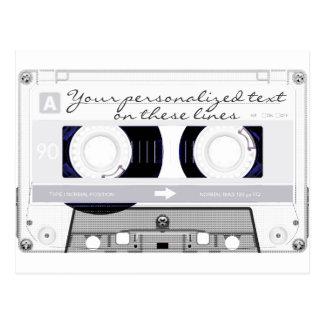 Cassette tape - white - postcard