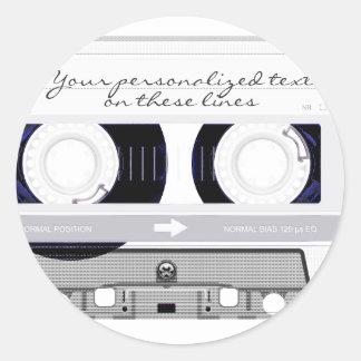Cassette tape - white - sticker