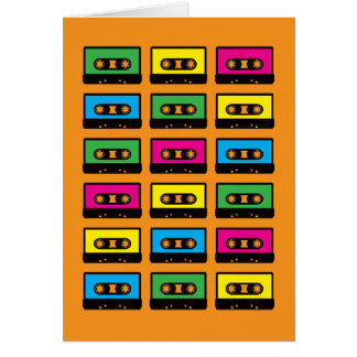 Cassette Tapes Greeting Card
