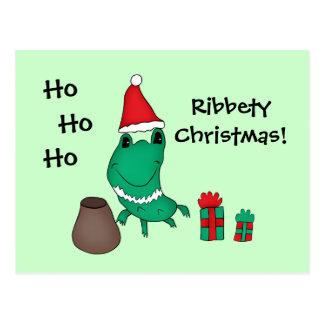 Cassie's cute Christmas frog Postcard