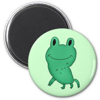 Cassie's frog 6 cm round magnet