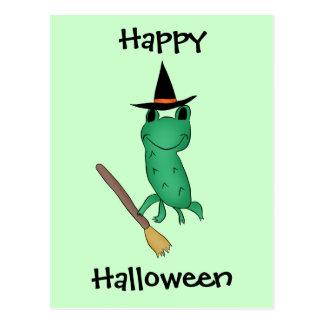 Cassie's Halloween Frog Postcard