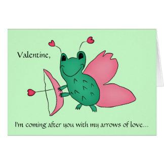 Cassie's Valentine's Day cupid frog Card