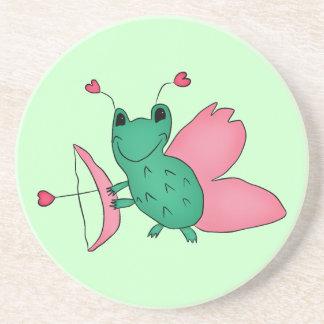 Cassie's Valentine's Day frog fairy Beverage Coasters
