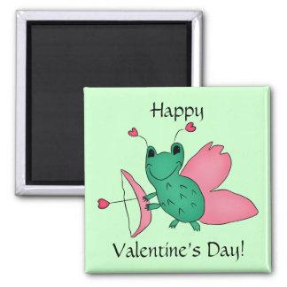 Cassie's Valentine's Day frog fairy Refrigerator Magnet