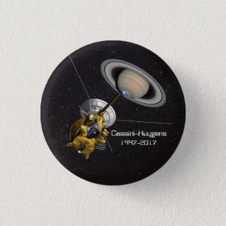 Cassini Huygens Mission to Saturn 3 Cm Round Badge