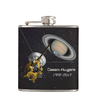 Cassini Huygens Mission to Saturn Hip Flask