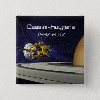Cassini Huygens Saturn Mission Spacecraft 15 Cm Square Badge