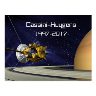 Cassini Huygens Saturn Mission Spacecraft Postcard