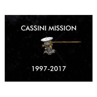 CASSINI MISSION 1997-2017 POSTCARD