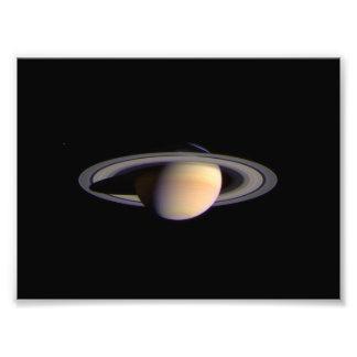 Cassini View of Saturn Space NASA Photo Print