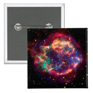 Cassiopeia a Spitzer 15 Cm Square Badge