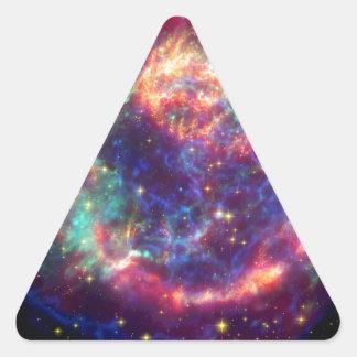 Cassiopeia A Supernova ... Death Becomes Her Triangle Sticker