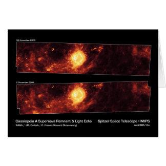 Cassiopeia A Supernova Remnant & Light Echo NASA Card
