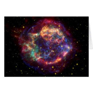 Cassiopeia Galaxy Supernova remnant Card