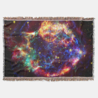 Cassiopeia Galaxy Supernova remnant Throw Blanket