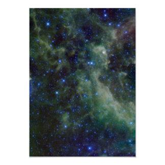 Cassiopeia nebula within the Milky Way Galaxy 13 Cm X 18 Cm Invitation Card