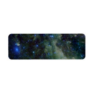 Cassiopeia nebula within the Milky Way Galaxy Return Address Label