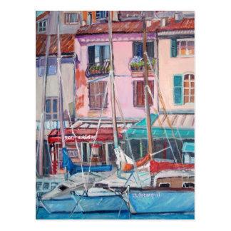 Cassis harbor - Postcard