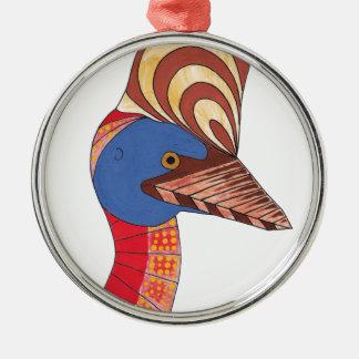 Cassowary Metal Ornament