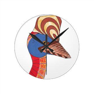 Cassowary Round Clock