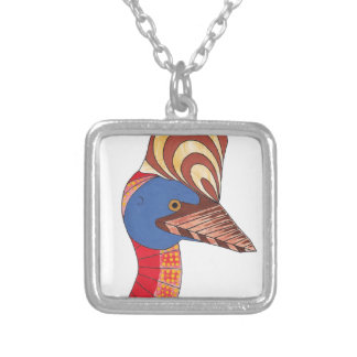 Cassowary Silver Plated Necklace