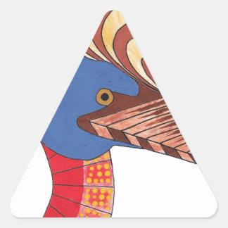 Cassowary Triangle Sticker