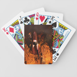 Cast in Flames Bicycle Playing Cards