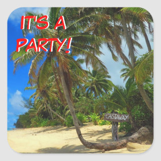 Castaway Party 2 Square Sticker
