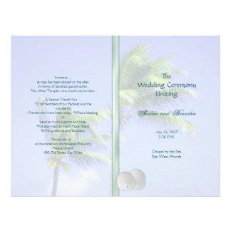 Castaway Tropical Island Wedding Program Template 21.5 Cm X 28 Cm Flyer