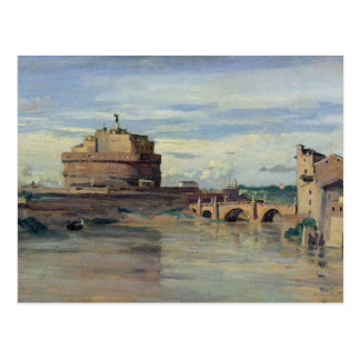 Castel Sant' Angelo and the River Tiber, Rome Postcard