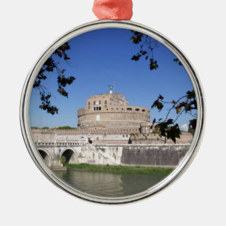 Castel Sant Angelo Silver-Colored Round Decoration