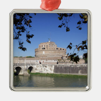 Castel Sant Angelo Silver-Colored Square Decoration