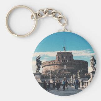 Castel Sant'Angelo Basic Round Button Key Ring